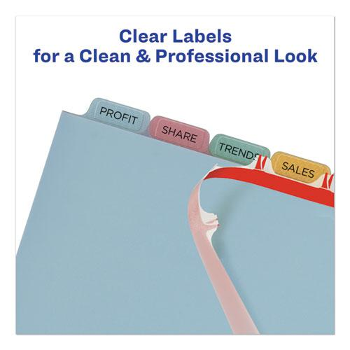 Print and Apply Index Maker Clear Label Plastic Dividers with Printable Label Strip, 8-Tab, 11 x 8.5, Translucent, 1 Set. Picture 7