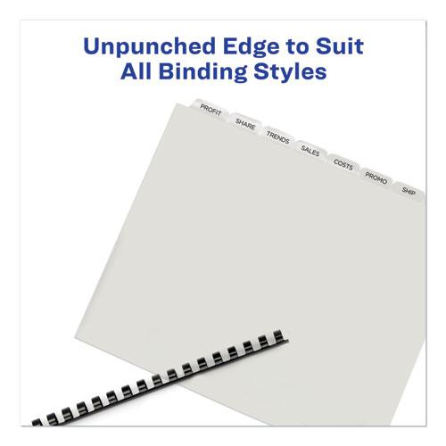 Print and Apply Index Maker Clear Label Unpunched Dividers with Printable Label Strip, 8-Tab, 11 x 8.5, Clear, 5 Sets. Picture 7