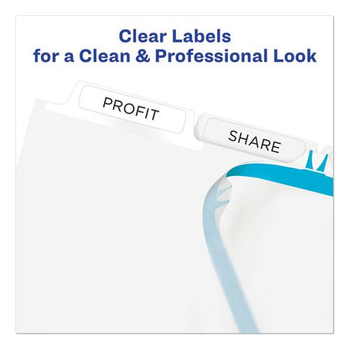 Print and Apply Index Maker Clear Label Plastic Dividers with Printable Label Strip, 5-Tab, 11 x 8.5, Translucent, 1 Set. Picture 4