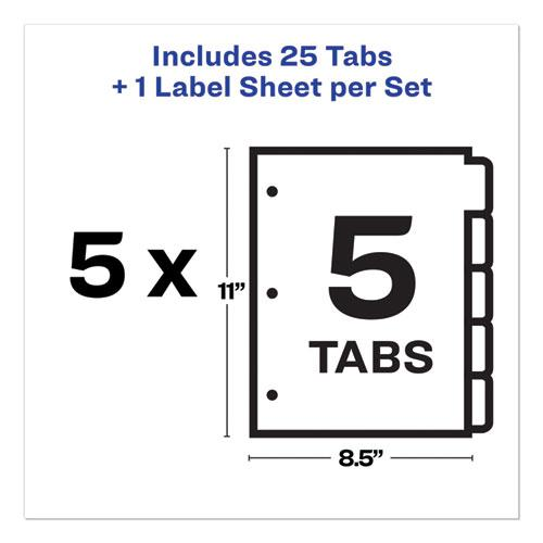 Print and Apply Index Maker Clear Label Plastic Dividers with Printable Label Strip, 5-Tab, 11 x 8.5, Translucent, 5 Sets. Picture 4
