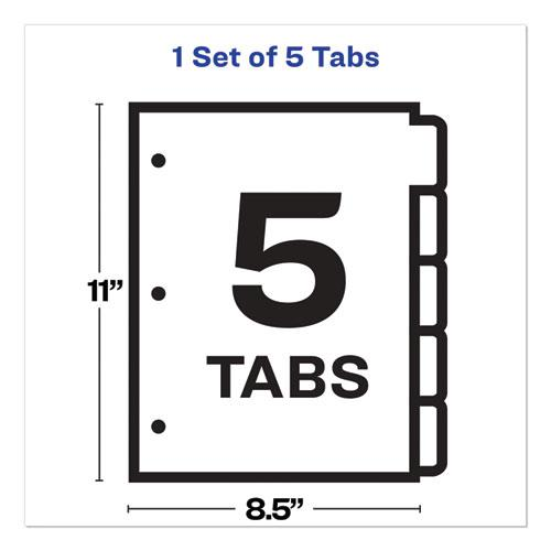 Print and Apply Index Maker Clear Label Plastic Dividers with Printable Label Strip, 5-Tab, 11 x 8.5, Translucent, 1 Set. Picture 7