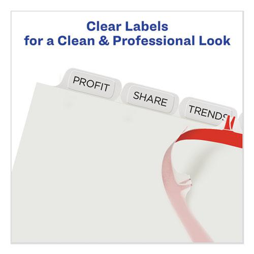 Print and Apply Index Maker Clear Label Plastic Dividers with Printable Label Strip, 8-Tab, 11 x 8.5, Translucent, 1 Set. Picture 5