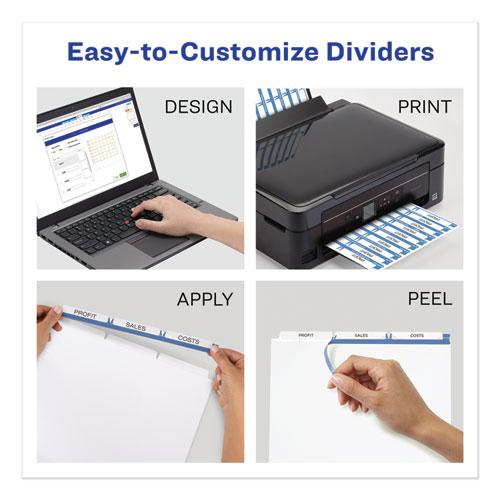 Print and Apply Index Maker Clear Label Unpunched Dividers, 3Tab, Letter, 5 Sets. Picture 6