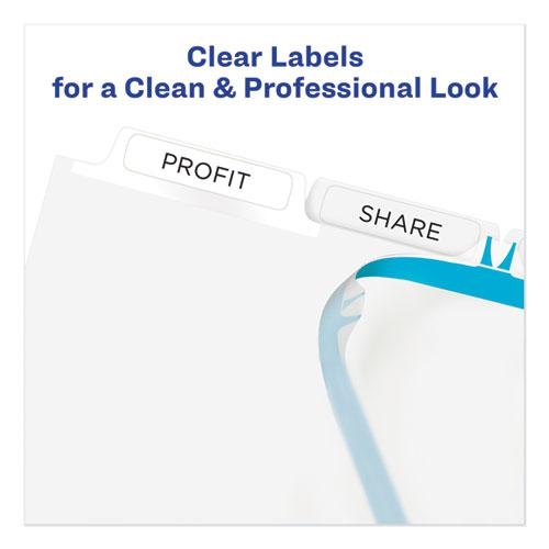 Print and Apply Index Maker Clear Label Unpunched Dividers, 5Tab, Letter, 5 Sets. Picture 2