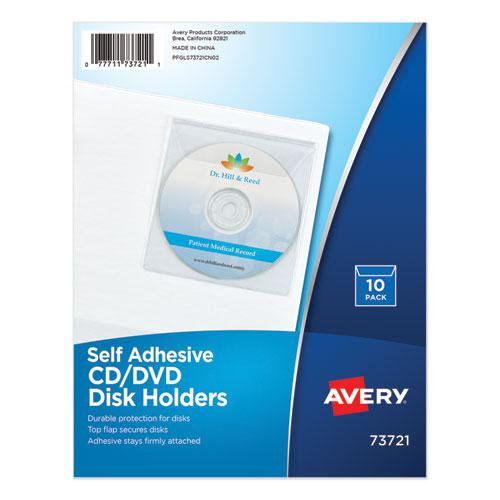 Self-Adhesive Media Pockets, 10/Pack. Picture 1