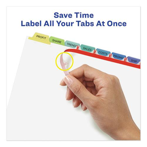 Print and Apply Index Maker Clear Label Unpunched Dividers, 8-Tab, Ltr, 25 Sets. Picture 2