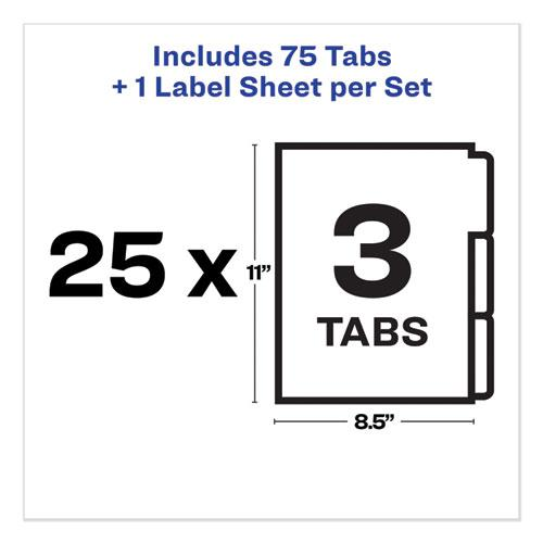Print and Apply Index Maker Clear Label Unpunched Dividers, 3-Tab, Ltr, 25 Sets. Picture 5