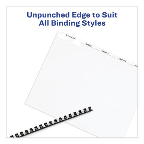 Print and Apply Index Maker Clear Label Unpunched Dividers, 5Tab, Letter, 5 Sets. Picture 7
