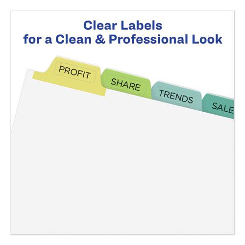 Print and Apply Index Maker Clear Label Unpunched Dividers, 8-Tab, Ltr, 25 Sets. Picture 3