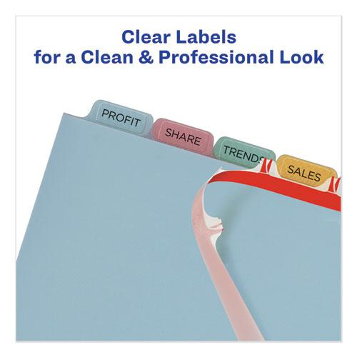 Print and Apply Index Maker Clear Label Plastic Dividers with Printable Label Strip, 8-Tab, 11 x 8.5, Translucent, 5 Sets. Picture 3