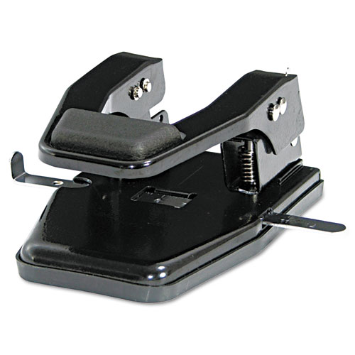 """40-Sheet Heavy-Duty Two-Hole Punch, 9/32"""" Holes, Padded Handle, Black. Picture 1"""