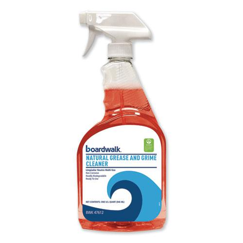 Boardwalk Green Natural Grease and Grime Cleaner, 32 oz Spray Bottle, 12/Carton. Picture 1