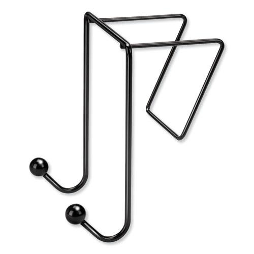 Partition Additions Wire Double-Garment Hook, 4 x 6, Black. Picture 5