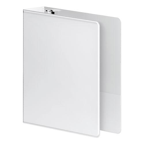 """Heavy-Duty D-Ring View Binder with Extra-Durable Hinge, 3 Rings, 2"""" Capacity, 11 x 8.5, White. Picture 2"""