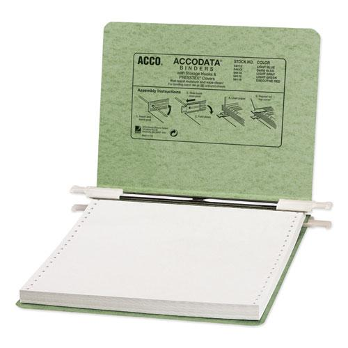 """PRESSTEX Covers with Storage Hooks, 2 Posts, 6"""" Capacity, 9.5 x 11, Light Green. Picture 1"""