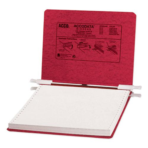 """PRESSTEX Covers with Storage Hooks, 2 Posts, 6"""" Capacity, 9.5 x 11, Executive Red. Picture 1"""