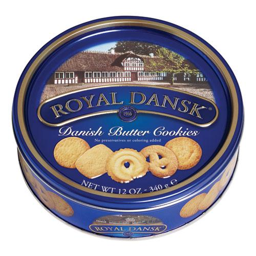 Cookies, Danish Butter, 12 oz Tin. Picture 1