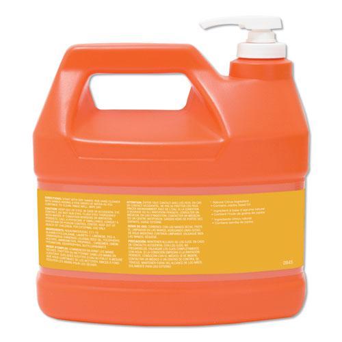 NATURAL ORANGE Smooth Hand Cleaner, Citrus Scent, 1 gal Pump Dispenser, 4/Carton. Picture 3