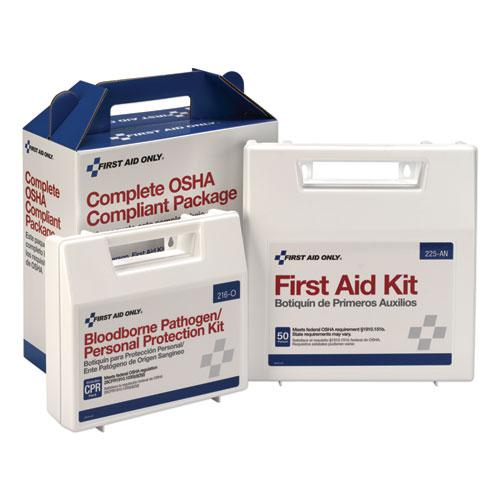 First Aid Kit for 50 People, 229-Pieces, ANSI/OSHA Compliant, Plastic Case. Picture 1