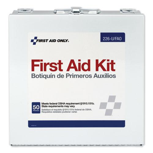 First Aid Station for 50 People, 196-Pieces, OSHA Compliant, Metal Case. Picture 2
