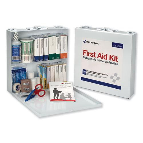 First Aid Station for 50 People, 196-Pieces, OSHA Compliant, Metal Case. Picture 1