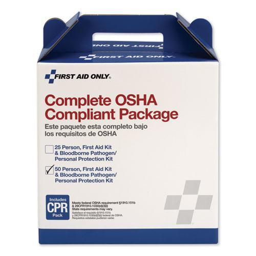 First Aid Kit for 50 People, 229-Pieces, ANSI/OSHA Compliant, Plastic Case. Picture 2