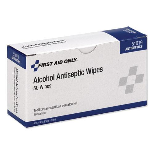 First Aid Alcohol Pads, 50/Box. Picture 3
