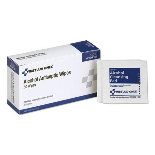 First Aid Alcohol Pads, 50/Box. Picture 1