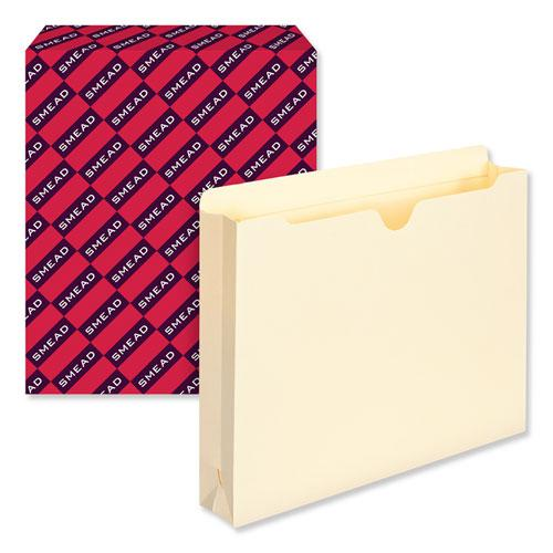 Manila File Jackets, 2-Ply Straight Tab, Letter Size, Manila, 50/Box. Picture 6