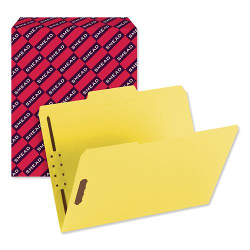 Top Tab Colored 2-Fastener Folders, 1/3-Cut Tabs, Letter Size, Yellow, 50/Box. Picture 7