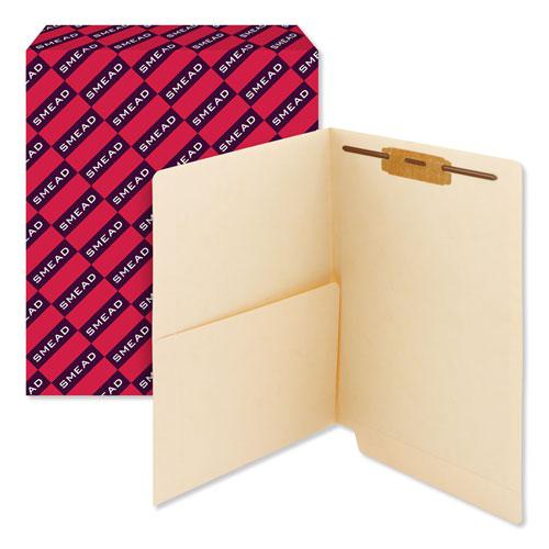 Heavyweight Manila End Tab Pocket Folders with One Fastener, Straight Tab, Letter Size, 50/Box. Picture 6