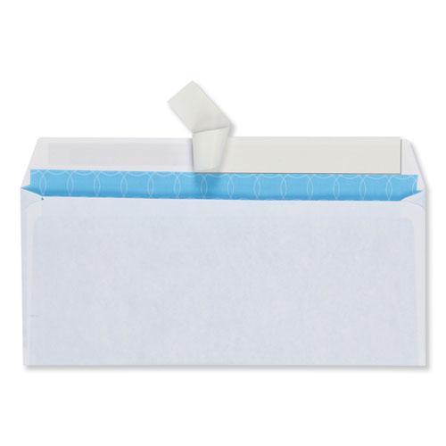 Security Envelope, #10, Commercial Flap, Redi-Strip Closure, 4.13 x 9.5, White, 500/Box. Picture 3