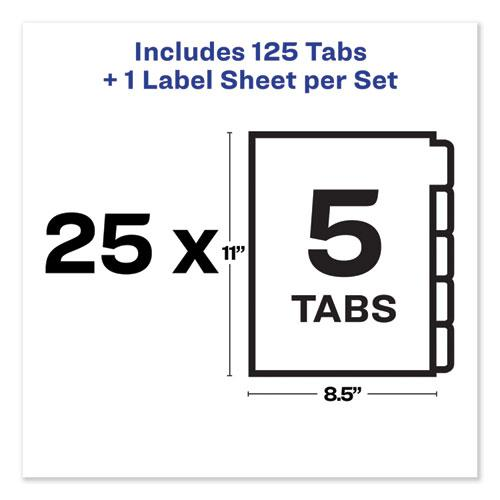 Print and Apply Index Maker Clear Label Unpunched Dividers, 5-Tab, Ltr, 25 Sets. Picture 5