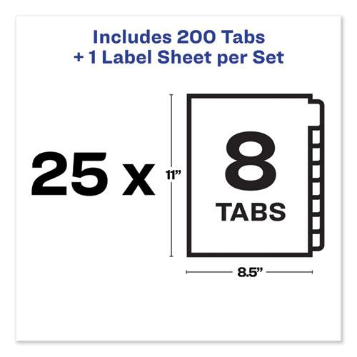 Print and Apply Index Maker Clear Label Unpunched Dividers, 8-Tab, Ltr, 25 Sets. Picture 4