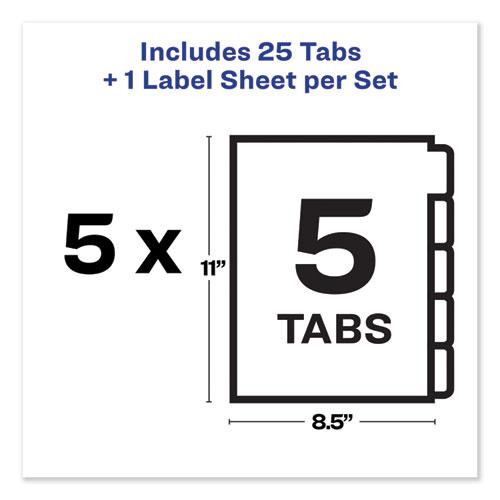 Print and Apply Index Maker Clear Label Unpunched Dividers with Printable Label Strip, 5-Tab, 11 x 8.5, Clear, 5 Sets. Picture 2