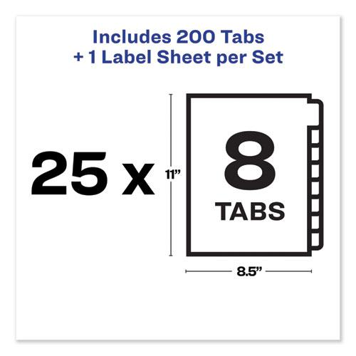 Print and Apply Index Maker Clear Label Unpunched Dividers, 8-Tab, Ltr, 25 Sets. Picture 6