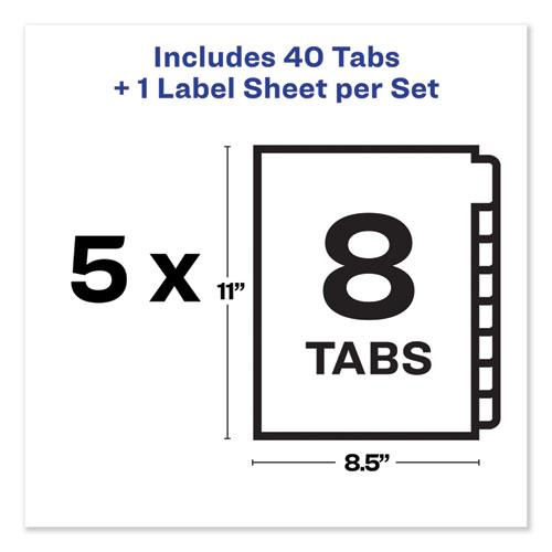 Print and Apply Index Maker Clear Label Unpunched Dividers with Printable Label Strip, 8-Tab, 11 x 8.5, Clear, 5 Sets. Picture 6