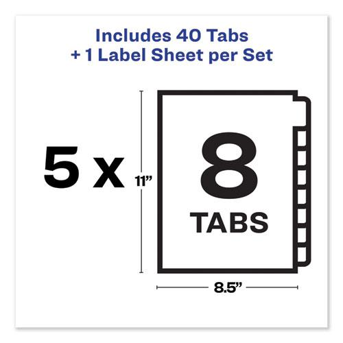 Print and Apply Index Maker Clear Label Unpunched Dividers, 8Tab, Letter, 5 Sets. Picture 4