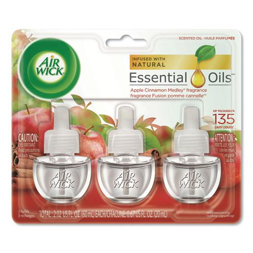 Scented Oil Refill, Warming - Apple Cinnamon Medley, 0.67 oz, 3/Pack, 6 Packs/Carton. Picture 1
