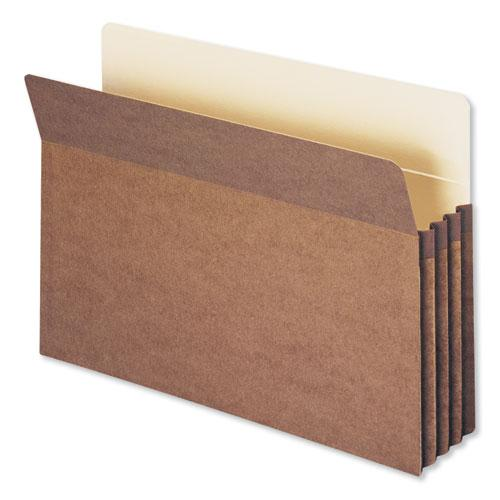 """Redrope Drop Front File Pockets, 3.5"""" Expansion, Legal Size, Redrope, 50/Box. Picture 1"""