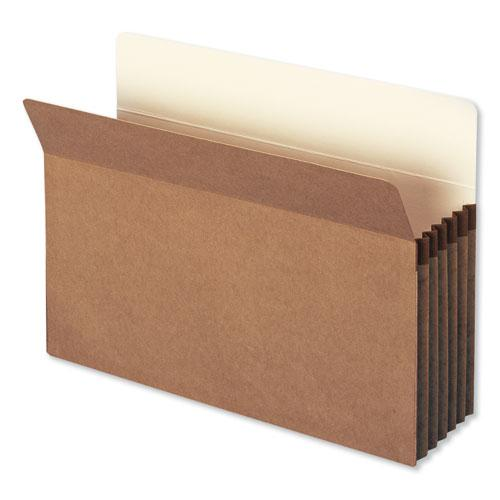 """Redrope Drop Front File Pockets, 5.25"""" Expansion, Legal Size, Redrope, 50/Box. Picture 1"""