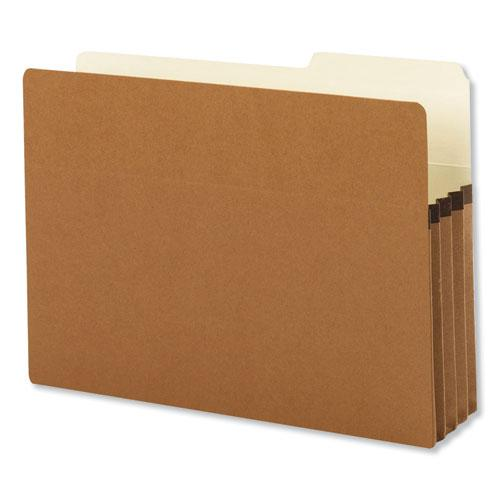"Redrope Drop Front File Pockets, 3.5"" Expansion, Legal Size, Redrope, 25/Box. Picture 1"