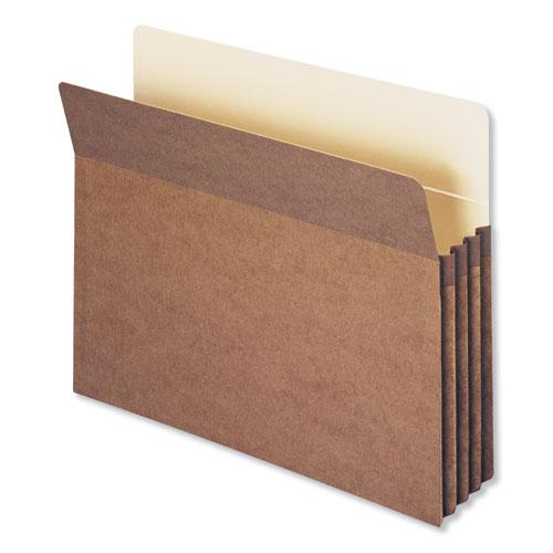 """Redrope Drop Front File Pockets, 3.5"""" Expansion, Letter Size, Redrope, 50/Box. Picture 1"""