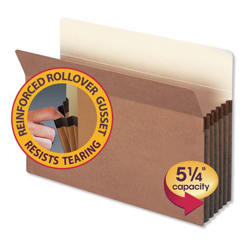 """Redrope Drop Front File Pockets, 5.25"""" Expansion, Legal Size, Redrope, 50/Box. Picture 4"""