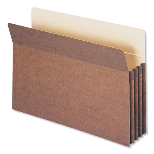 """Redrope Drop Front File Pockets, 3.5"""" Expansion, Legal Size, Redrope, 25/Box. Picture 1"""