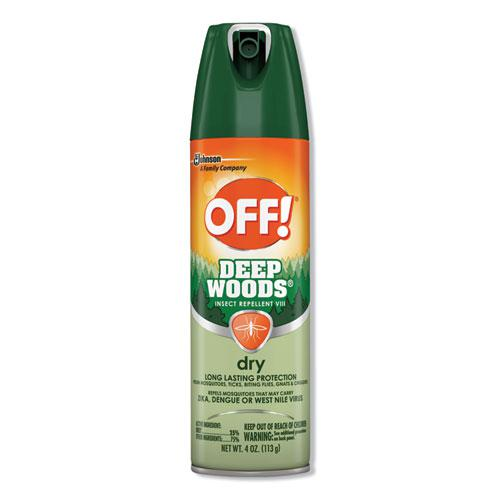 Deep Woods Dry Insect Repellent, 4oz, Aerosol, Neutral, 12/Carton. Picture 1