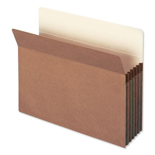 "Redrope Drop Front File Pockets, 5.25"" Expansion, Letter Size, Redrope, 50/Box. Picture 1"