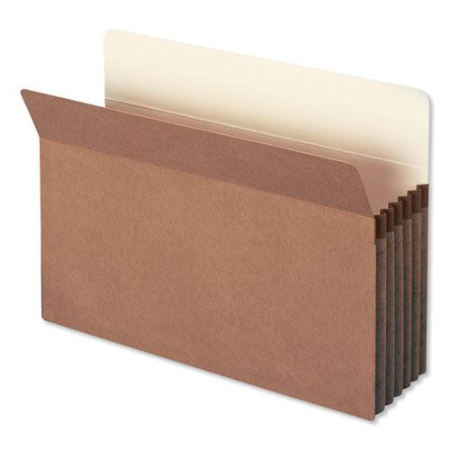 """Redrope Drop Front File Pockets, 5.25"""" Expansion, Legal Size, Redrope, 10/Box. Picture 1"""