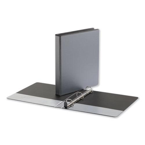 """Deluxe Easy-to-Open D-Ring View Binder, 3 Rings, 1"""" Capacity, 11 x 8.5, Black. Picture 1"""