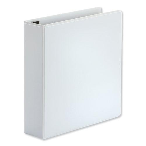 """Deluxe Easy-to-Open D-Ring View Binder, 3 Rings, 2"""" Capacity, 11 x 8.5, White. Picture 2"""